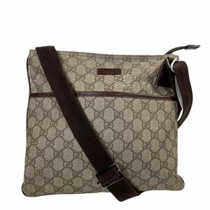 Gucci Crossbody bag GG Supreme Brown PVC